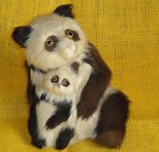 VINTAGE CHINESE ? FURRY MOHAIR PANDA BEARS DOLLS