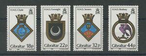 Gibraltar SG592-595 1988 Naval Crests U/M