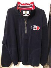 New York Rangers Starter Brand Liberty Logo Fleece Half Zip Sweatshirt Size XL
