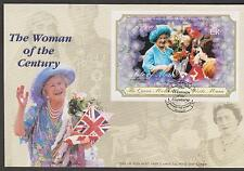 GB - ISLE of MAN 2000 The Queen Mother Visits Man Minisheet SG MS881 FDC ROYALTY