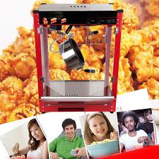 8oz Stainless Commercial Popcorn Pop Corn Maker Popcorn Machine Cooker 1370W