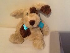 "Harrods Brown Patch Puppy Dog Comforter Soft Toy 7"" Excellent Condition"