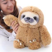 Winsterch Kids Stuffed Animal Sloth Bear Plush Toys Gift Baby Doll Brown 15.7''