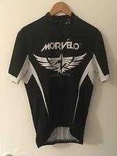 MORVELO UNITY SS MEN'S CYCLING JERSEY BLACK WHITE XL *VGC*