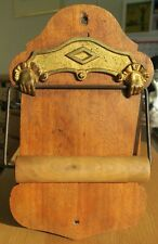 More details for antique toilet roll loo roll holder with hands detail