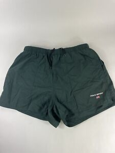 Ralph Lauren Polo Sport Mens L Vintage Green Swim Trunks 90's Retro Shorts Vtg