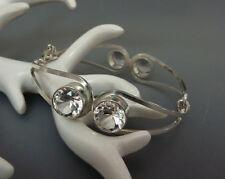 Designer Vintage Bergkristall Armband Armreif 800 Silber silver bracelet bangle