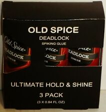 3 Pack Old Spice DEADLOCK Spiking Glue Ultimate Hold & Shine Spiked Up Look NIP