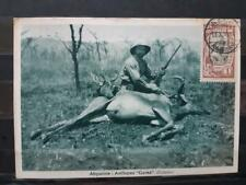Ethiopia Hunt Postcard Maxi Card Harrar 1931 Ethiopie Carte Maximum Antilope