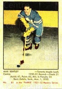2002-03 Parkhurst Reprints #303 Max Bentley