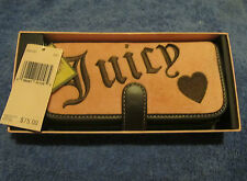 JUICY COUTURE MAKEUP BRUSH POUCH WALLET PINK NWT NEW MIRROR J HEART NEW