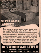 VINTAGE  AD HEYWOOD WAKEFIELD FURNITURE  BEDROOM MODERN