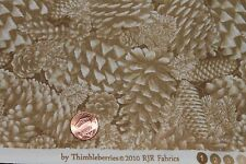 """""""WINTER PINES"""" THIMBLEBERRIES CHRISTMAS COTTON  QUILT FABRIC BTY FOR RJR (A)"""