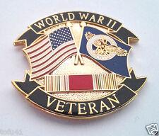 WORLD WAR II VETERAN RUPTURED DUCK FLAG Military Veteran Hat Pin P63002 EE
