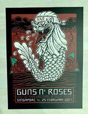 Guns N' Roses lithograph Singapore NITL tour poster