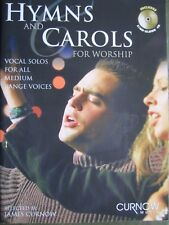 Hymns and Carols for Worship for voice and piano with CD *NEW* Publisher Curnow