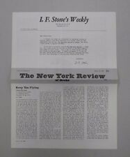 I. F. Stone's Weekly Vol. V, No. 12. The New York Review of Books issue! RARE!