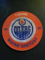 1984-85 Wayne Gretzky Oilers 7-Eleven 4.5in Promotional 3-D Disc Mint Condition