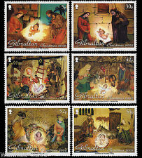 Christmas Creche scenes Nativity set of 6 mnh stamps 2002 Gibraltar #918-23