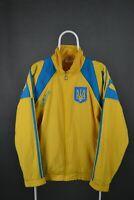 VINTAGE ADIDAS UKRAINE NATIONAL FOOTBALL OLYMPIC TEAM 90's 1996 1998 JACKET Sz L
