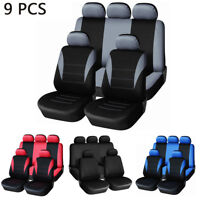 9PCS Universal Car Seat Cover Set Interior Accessories For Most Car, Truck, Suv