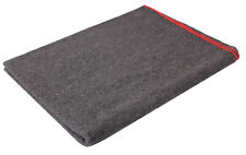 """Wool Blanket Military Rescue Style Grey Red Stitching 60"""" X 80"""" Rothco 10429"""
