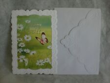 Carol's Rose Garden - Happy Birthday -  A Butterfly and daisies on cover