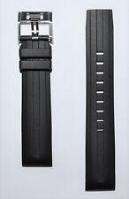 Original Hamilton Khaki Aviation Black Rubber Band Strap H76714335, H77726351