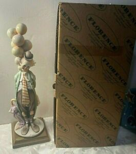 Florence Signed Original Giuseppe Armani Clown with Balloons Figurine with Box