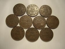 Canada George V 1933 Small Cents - Lot of 10 Coins