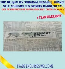 FOR RENAULT CLIO MEGANE & TWINGO RS SPORT BADGE GENUINE NEW 848908319R