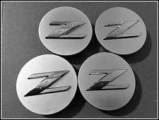 "4x 350Z Centre Caps Set Z logo 18"" RAYONS OEM Roue Alliage Center"