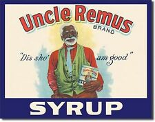 Uncle Remus Syrup Metal Sign Tin New Vintage Style #125