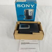 Sony Cassette Corder VOR TCM 453V Speed Control Tape Player Recorder Boxed