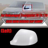 Passenger N/S WHITE Wing Mirror Cover Cap For VW Transporter T5 T5.1 T6 CANDY