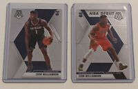 2019-20 Panini Mosaic Zion Williamson 2 Card Rookie Lot Base + Debut HOT!!!