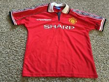 Manchester United Umbro, Sharp Beckham #7 Jersey, Red - M