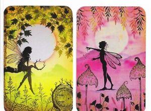Swap Playing Cards. 2 Single Cards. Fabulous Fairies. Modern Blank Back.