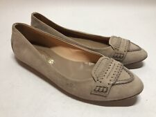 Tod's Beige Tan Suede Pointed Flats Loafers - Women's EU 36.5 US 6.5