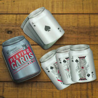 Beer Can Shaped Playing Cards Poker Card Set Men's Xmas Stocking Filler Gift