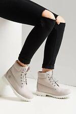 Timberland Light Gray Waterbuck Leather 6 inch Premium Boots Womens 10 New