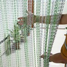 214 x 90CM Metal Chain Insect Fly Door Curtain Screen Aluminium Pest Control UK