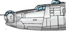 PB4Y-1 Privateer Vacuform Canopy, Glazing for Academy (1/72 Squadron 9144)