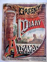 1882-3 Green's Diary Almanac Advertising Boschee's German Syrup & August Flower*