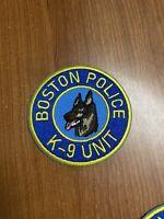 Boston Police K9 Unit Patch