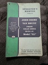 Original John Deere Van Brunt Press Grain Drill Model Ll Operators Manual