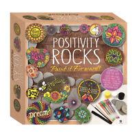 Childrens Craft Sets - Positivity Rocks  Pebble Painting Kit Set - Brush Pens