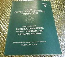 1979 Naval Training book Navy Module 4 Electrical Conductors Schematic Reading