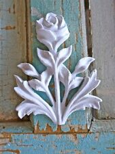 Shabby n Chic Carved Rose w/ Leaves-Furniture Appliques-Wood & Resin-Stainable