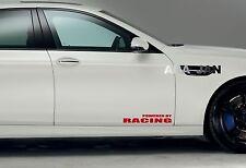 POWERED BY RACING Vinyl Decal sticker emblem sport speed car door logo RED